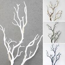 Düğün dekorasyon tavuskuşu mercan dalları plastik yapay bitkiler kurutulmuş ağaç M15