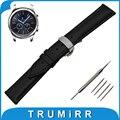 22mm faixa de relógio de couro genuíno para samsung gear clássico s3/fronteira borboleta bracelete de pulso pulseira cinto marrom preto