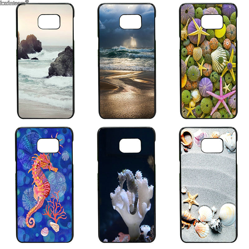 Hard PC Cover Seashell Tropical Island Phone Cases for Samsung Galaxy S8 S9 Plus S2 S3 S4 S5 Mini S7 S6 Edge Plus Active Shell