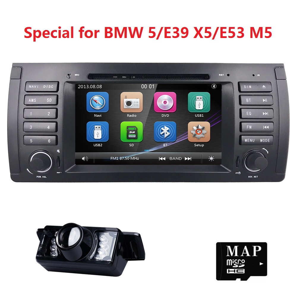 1 din 7 Car DVD Player Radio GPS for BMW E53 E39 X5 tuning parts M5 Accessories X5 E53 Navigation SWC RDS AM/FM iPod 3G CANBUS
