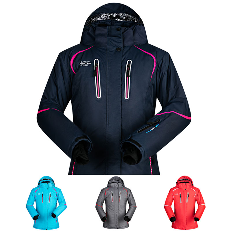 Ski Jackets Women Winter New Super Thermal Waterproof Windproof Outdoor Female Snow Hiking Skiing And Snowboarding Jacket Brands 2018 new lover men and women windproof waterproof thermal male snow pants sets skiing and snowboarding ski suit men jackets