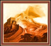 Рукоделие Ремесло 14CT без надписей вышивка DMC DIY Китайский Great Wall живописные места исторический интерес наборы для вышивки крестом