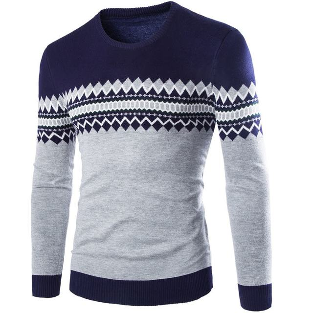 Men's Knitted Sweater Patterns Striped  2