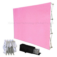 Hot Sale Portable Banner Fabric Pop Up Display Fair Advertisement Trade Show Promoted Exhibition Tension Easy Up Stand Billboard