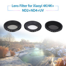 JUNESTAR AGC Glass ND2+ND4+UV for Xiaomi Xiaoyi 4K/4K + Sport Action Camera Accessory