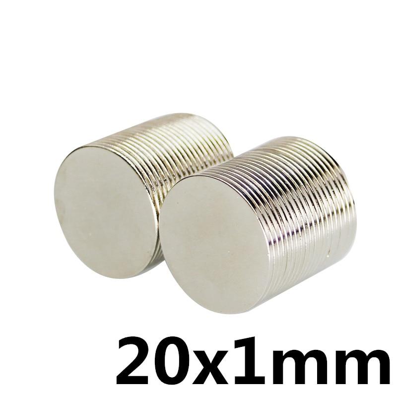 10pcs 20 x 1 mm N35 Strong Neodymium Magnet 20x1 Round Rare Earth Permanet Magnets 20*1mm Packaging Magnet Fridge Magnet камера велосипедная kenda 761 20x1 1 fv 60l 20 451 20x1