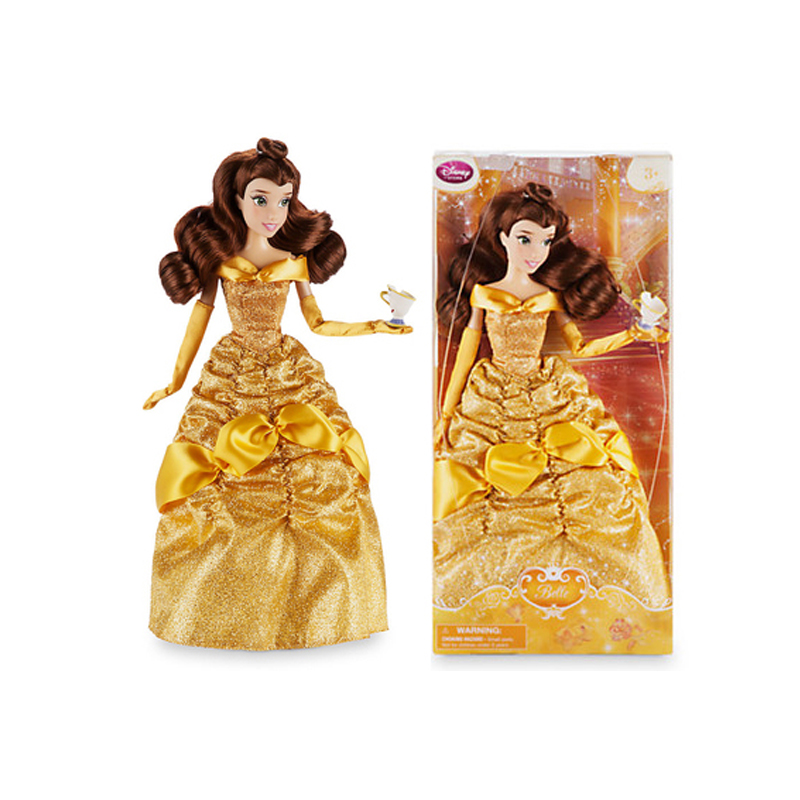 Original DISNEY Store Fashion Princess Beauty and the Beast Belle Classic doll Figure toys For children birthday Christmas gift disney decoration birthday gifts beauty and the beast the little prince glass cover fresh preserved flowers rose children toys