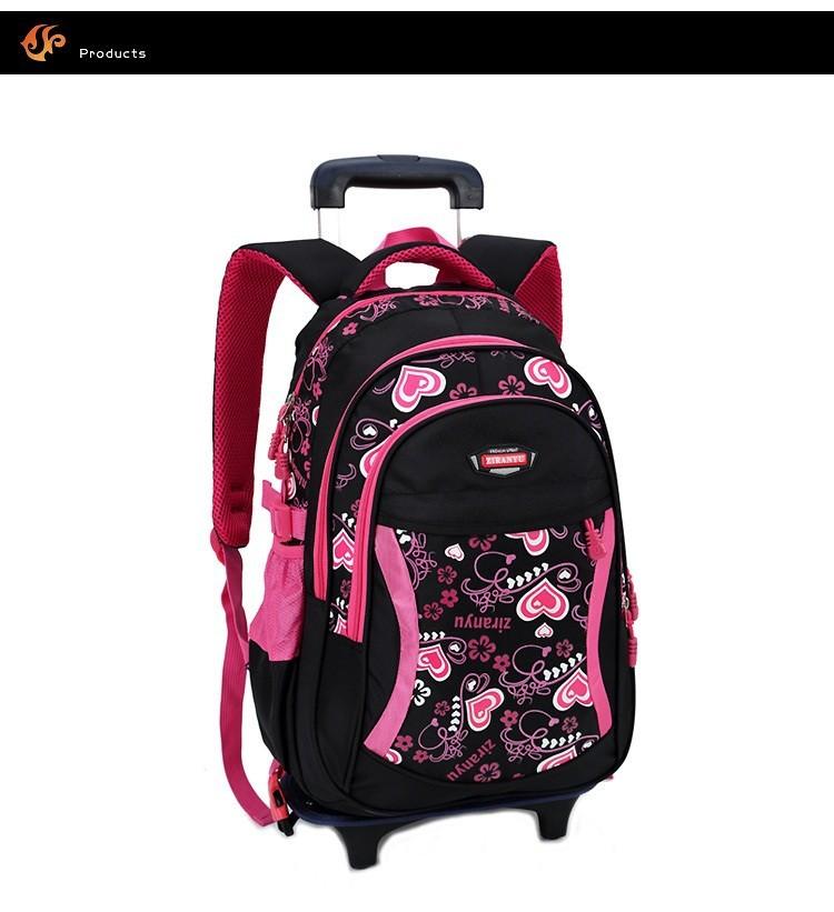 Rolling school backpacks girls and boys trolley bags school bag wheels backpack  schoolbag teenage girl bookbag mochila bolsosUSD 59.98-67.98 piece ed11f93e0521f