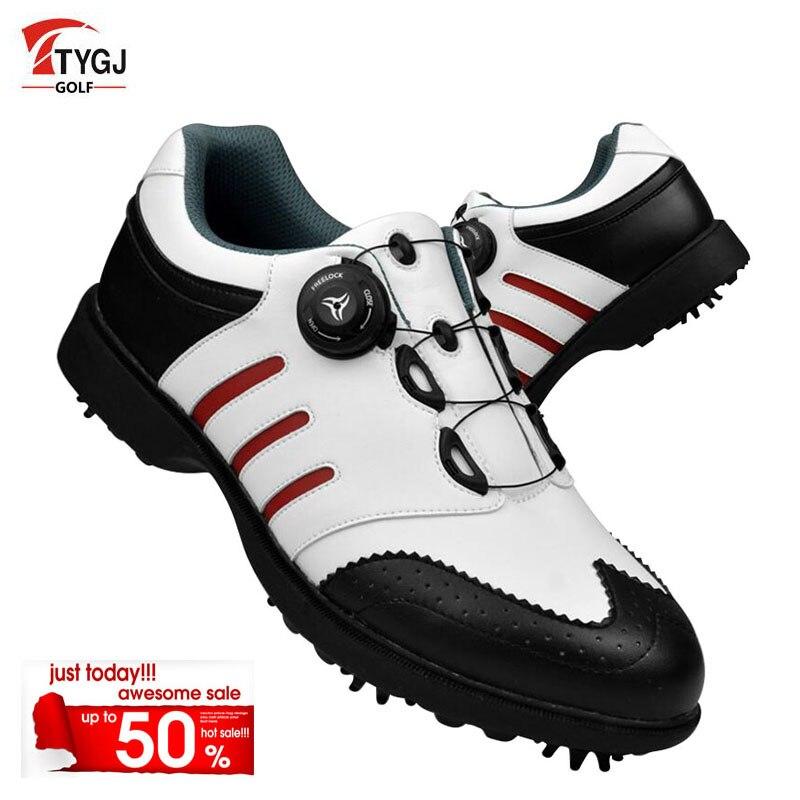 Здесь можно купить   TTYGJ Golf Shoes Men Waterproof Automatic Knob Lace system Men