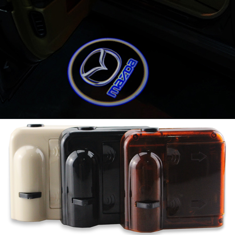 Wireless Led Logo Projector Door welcome light for Mazda 2 3 4 5 6 Mazda2 Mazda3 Mazda4 Mazda5 Mazda6 Mazda8 CX-3 CX-5 MX-5 CX-9 2pcs 5th car led door light for for m 2 3 5 6 cx 5 cx 7 cx 9 rx8 logo projector ghost shadow welcome light