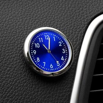 Horloge de voiture Mini Automobiles lumineuses mécaniques de montre numérique à coller internes horloges à Quartz accessoires de coiffure automobile cadeaux