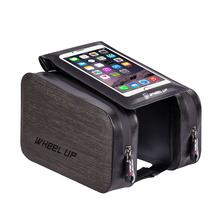 Bicycle Waterproof  Front Bag Mountain Bike TPU Touch Screen Front Beam Package And The  Riding Bag Saddle Bag  ALS88