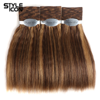 Styleicon Wet And Wavy Human Hair Bundles Indian Remy Hair Weave 3 Bundles Deal Hair Extensions Piano Color 4/27 30 33 99J Hair