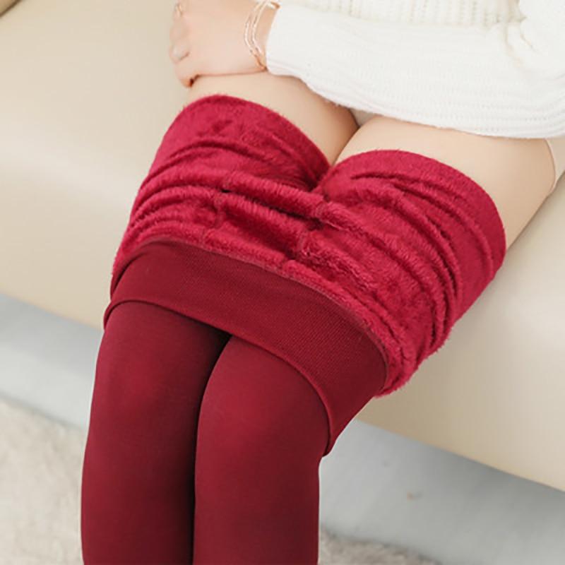 azul pantalones rojo Grueso Pantalones Nuevas Elasticidad 8 8 Cálido De Negro gris Marino verde Las Mujeres Otoño Tone Invierno skin púrpura marrón Terciopelo Alta E Polainas Color Zvd4wSPq
