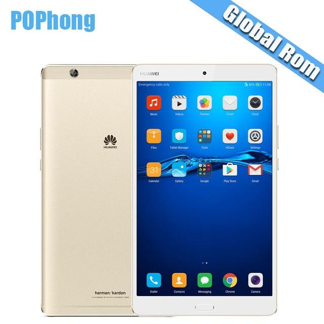 Глобальный Встроенная память Huawei MediaPad m3 4 ГБ Оперативная память 32/64/128 ГБ Встроенная память 8.4 дюймов Android 6.0 Планшеты PC 2 К Экран KIRIN 950 Octa core отпечатков пальцев N