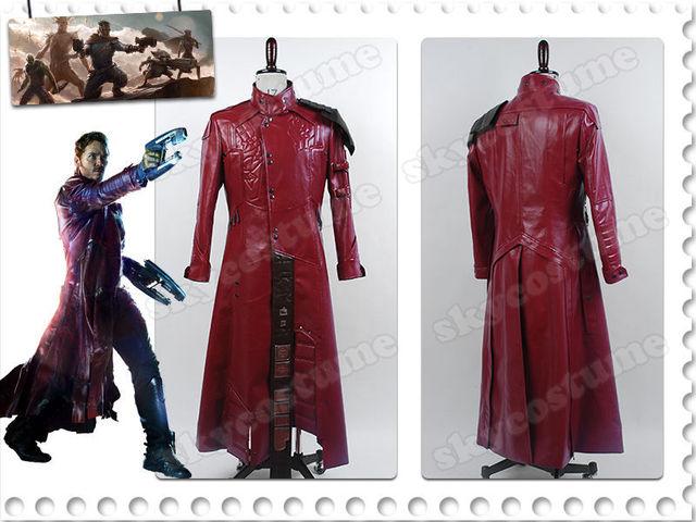 0e7087b58f36e Tutores de la galaxia Peter Quill Star-Lord Halloween superhéroe Cosplay  disfraz de cuero rojo