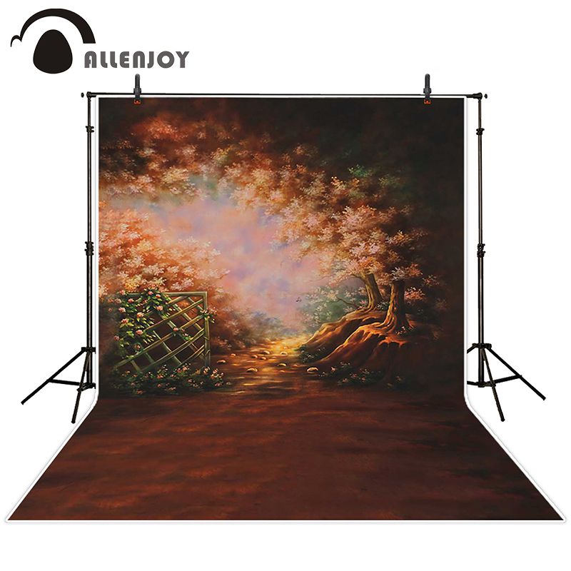 Allenjoy photographic background Railing Tree Videos backdrops baby boy props scenic 10ft*20ft