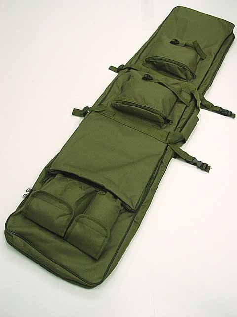 "48"" SWAT Dual Tactical Rifle Carrying Case Gun Bag OD BK"