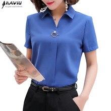 Naviu Blusas De alta calidad para Mujer, Blusas De Moda para Mujer, Blusas De talla grande, camisa De manga corta