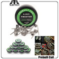 100pcs Heating Resistance Rda Coil Twisted Wire Fused Clapton DIY Coils Hive Premade resistence wire A1 premade coil Quad Tiger