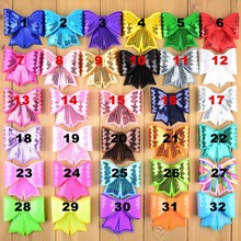 """Großhandel 200 teile/los 32 farbe U Wählen 3 """"Stickerei Große Pailletten Bogen Kinder Haar Boutique Bögen DIY Zubehör Ornamente HDJ13"""