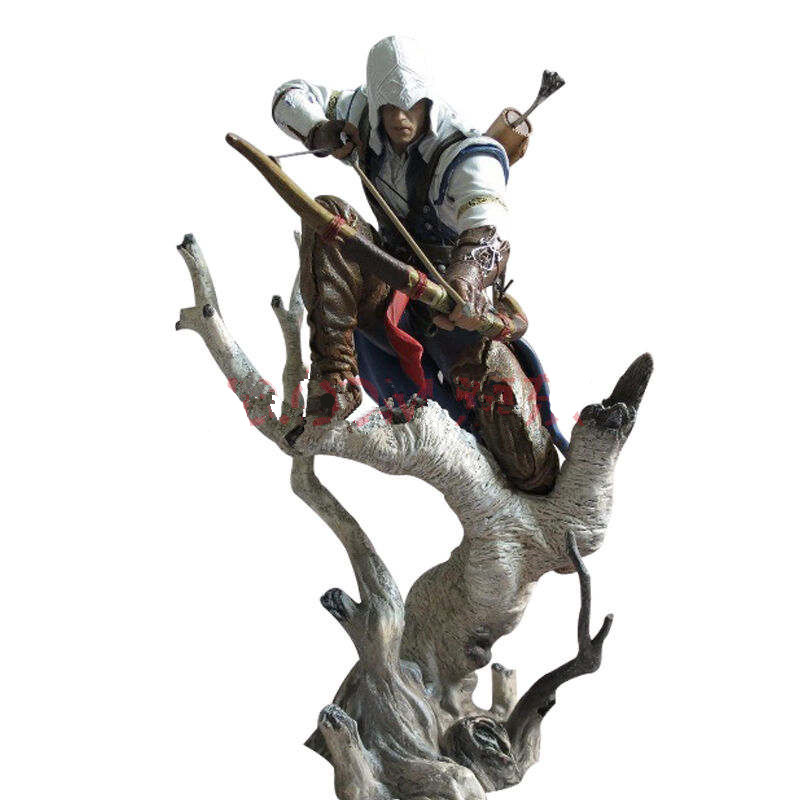 The Hunter Figurine Assassins Creed III Connor Action Figure Game Toys Assassin Creed PVC Anime Collectible Assassin Creed Toy