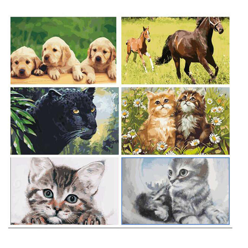 Animal picture DIY Painting By Numbers Paint On Canvas Home Wall Art Picture Drawing Painting By Numbers Kits