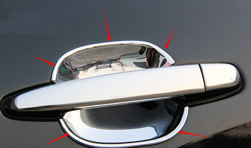 5Pcs Chrome Side Door Handle Cover Trim For Toyota Prado Fj120 2003-2009