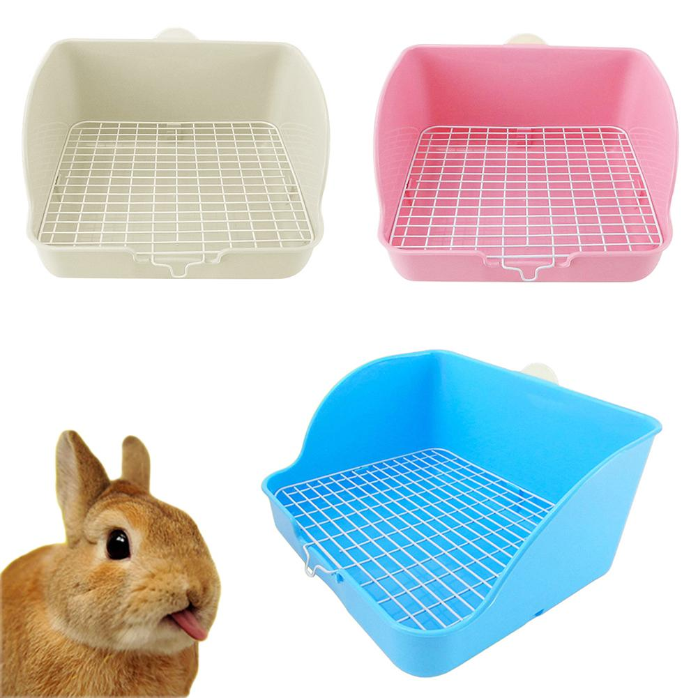 1Pc Pet Cat Rabbit Toilet Mesh Square Potty Trainer Rat Hamster Corner Litter Box Cleaning Training Tray For Small Animal Pets