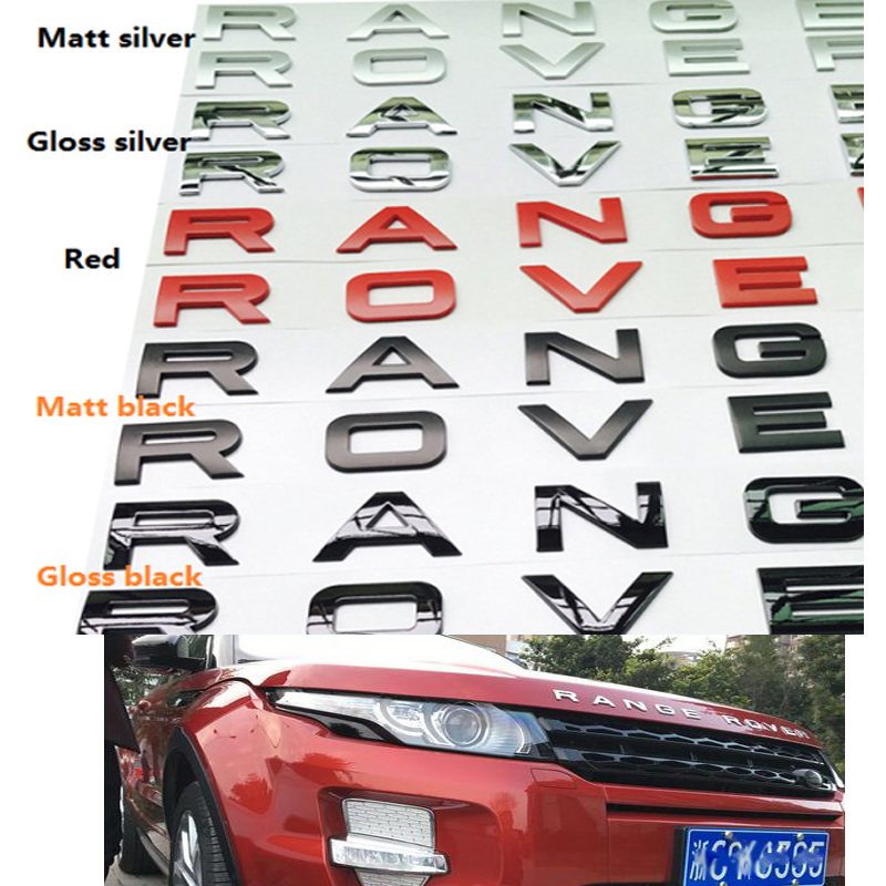 Car Styling Front Or Back Car Emblem Cover Sticker Letters Sports Style Case accessories for Range