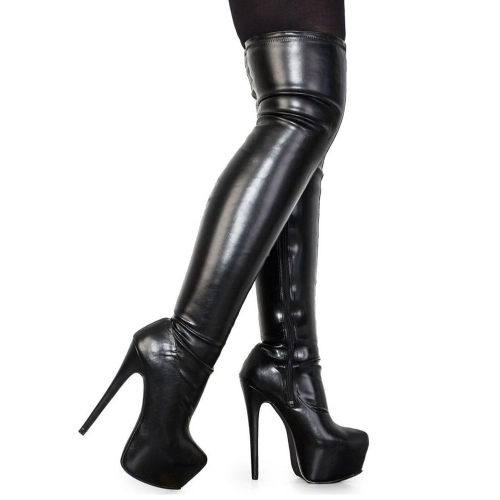 DoraTasia 2018 Plus Size 33-48 brand fashion platform over the knee boots women sexy super high heels shoes woman party boots все цены
