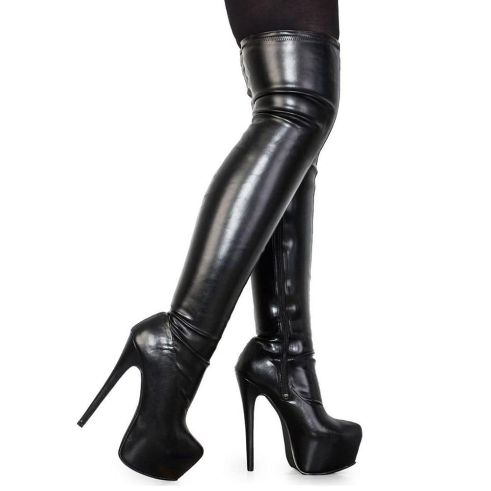 DoraTasia 2018 Plus Size 33-48 brand fashion platform over the knee boots women sexy super high heels shoes woman party boots doratasia brand new plus size 33 43 sexy thin high heels party winter boots women shoes fashion over the knee boots shoes woman
