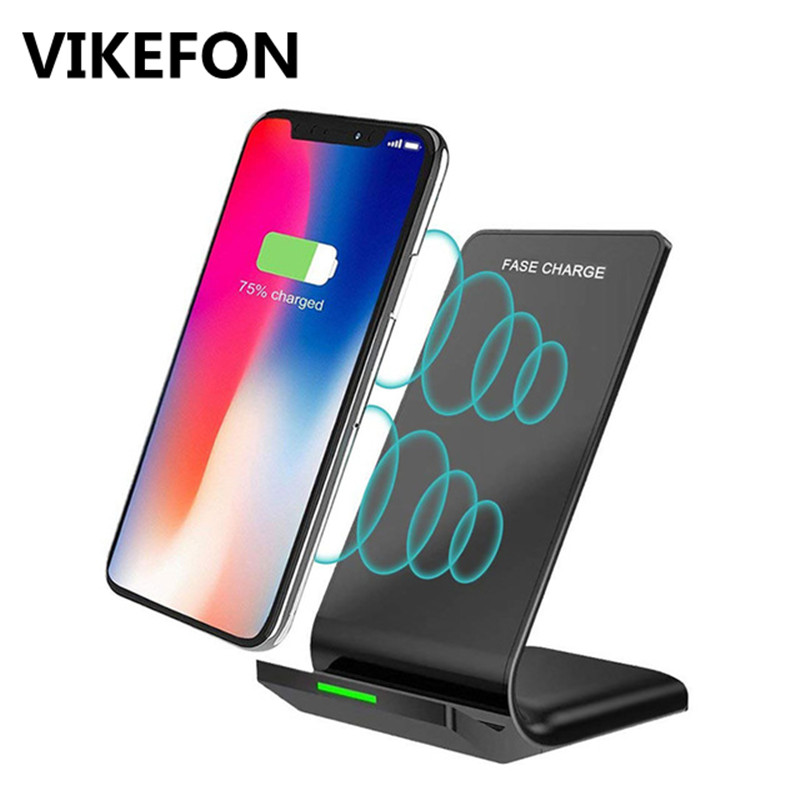 Upgrade 10W Qi Wireless Charger for iPhone X/XS Max 8 Plus Quick Charge Fast Mobile Phone Charger for Samsung S9 S10 Xiaomi mi 9(China)