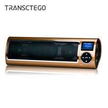 Portátil estéreo de áudio cartão sd alto falante ao ar livre rádio ciclismo alta fidelidade soundbar caixa som baixo esporte alto falantes