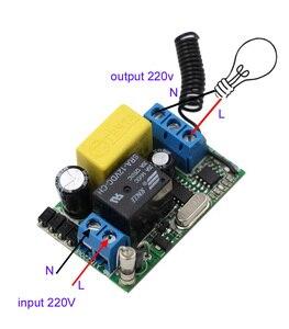 Image 3 - AC 220V 1CH ממסר אלחוטי מרחוק מערכת מתג שלט רחוק מתג 10A מקלט + עמיד למים משדר 315Mhz/433Mhz