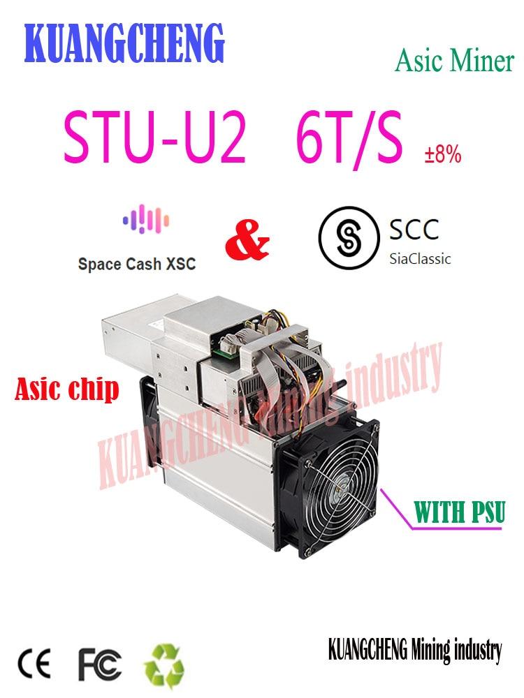 New  Asic SCC XSC Miner StrongU Miner STU-U2 6TH/S With PSU Blake2B Better Than Antminer A3 Innosilicon S11