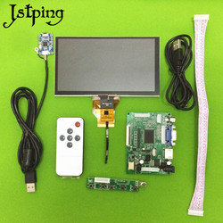 Jstping 6.5 cal 800*480 monitor lcd AT065TN14 płyta sterownicza pojemnościowy zestaw do ekranu dotykowego hdmi vga 2AV dla Raspberry Pi w Ekrany LCD i panele do tabletów od Komputer i biuro na