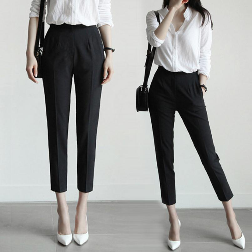 Lastest Women39s Plain Front Tuxedo Pants Black