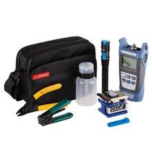 12 шт./компл. волоконно-оптические FTTH Tool Kit с FC-6S Fiber Кливер и оптический Мощность метр 5 км Визуальный дефектоскоп