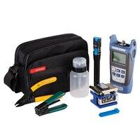 12pcs/set Fiber Optic FTTH Tool Kit with FC 6S Fiber Cleaver and Optical Power Meter 5km Visual Fault Locator