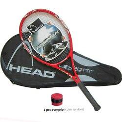 High Quality Carbon Fiber Tennis Racket Racquets Equipped with Bag Tennis Grip Size 4 1/4 racchetta da Tennis Free Shipping