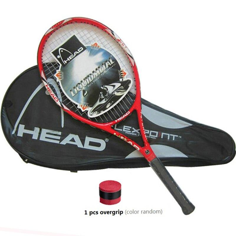 Raqueta de tenis de fibra de carbono de alta calidad equipada con bolsa de agarre de tenis tamaño 4 1/4 racchetta da tenis envío gratis