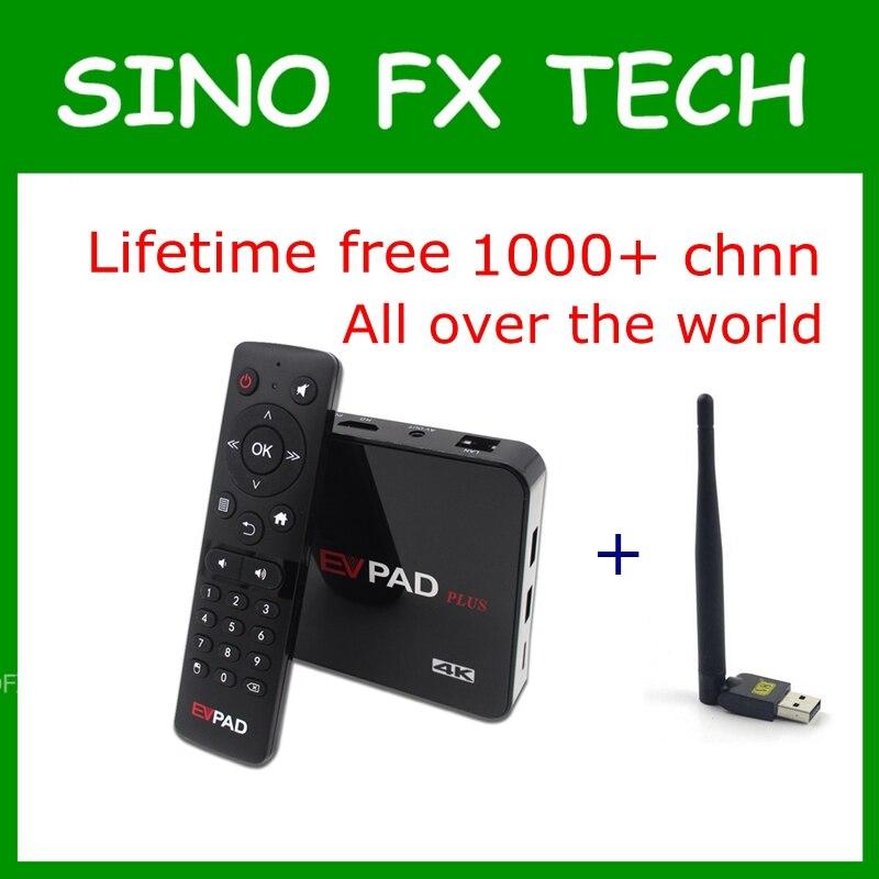 EVPAD Plus tv box with lifetime free tv 1700+ live channels HK,TW,korea,Japan,Singapore,Malay Evpad plus media player wwe live singapore
