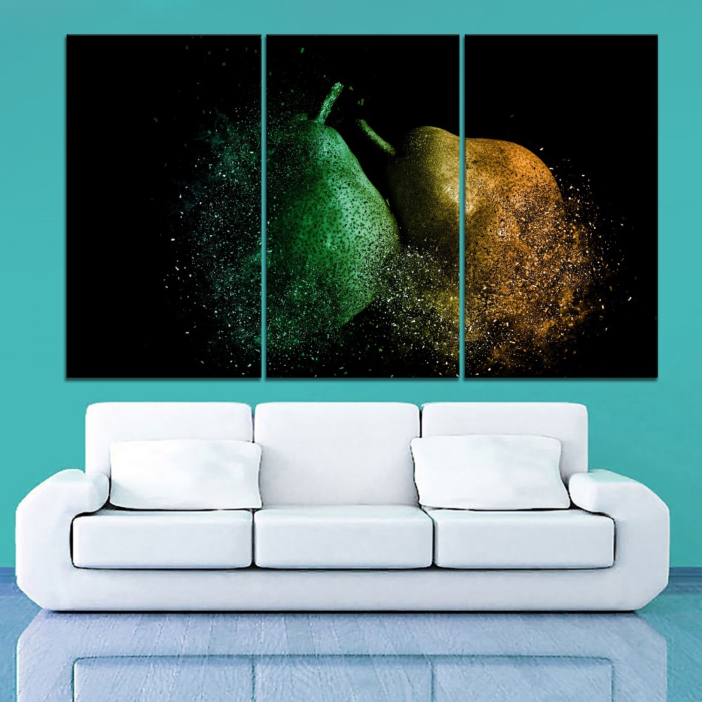 Abstract Artistic Paintng Modern Living Room Wall Decorative 1 Piece Framework Picture Canvas Print Destruction Pears Poster in Painting Calligraphy from Home Garden