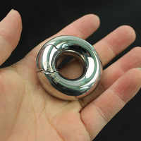 Stainless Steel Glans Ring Cockring Scrotum Bondage Rings Penis Sleeve Circumcision Testis Ring Sex Toys for Men B2-2-215