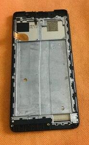 Image 2 - Usado tela lcd original + tela de toque + quadro para uhans nota 4 mtk6737 quad core frete grátis
