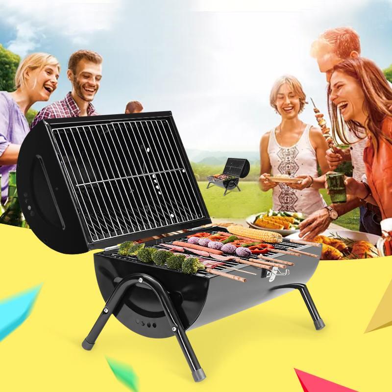 Barbecue Barbecue Portable charbon de bois grilles Barbecue outils accessoires ustensiles de cuisine pliable extérieur Graden Camping voyage