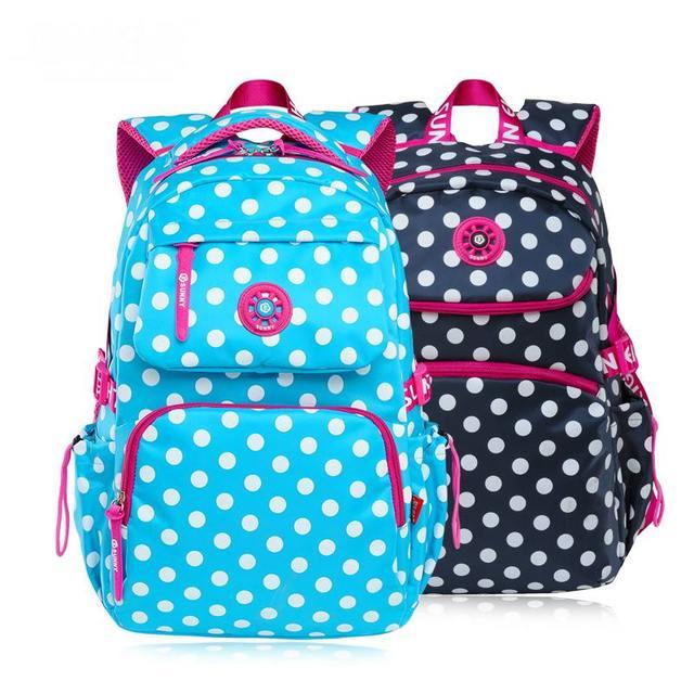 Dot Backpacks Satchel Children School Bags For Girls Waterproof ...