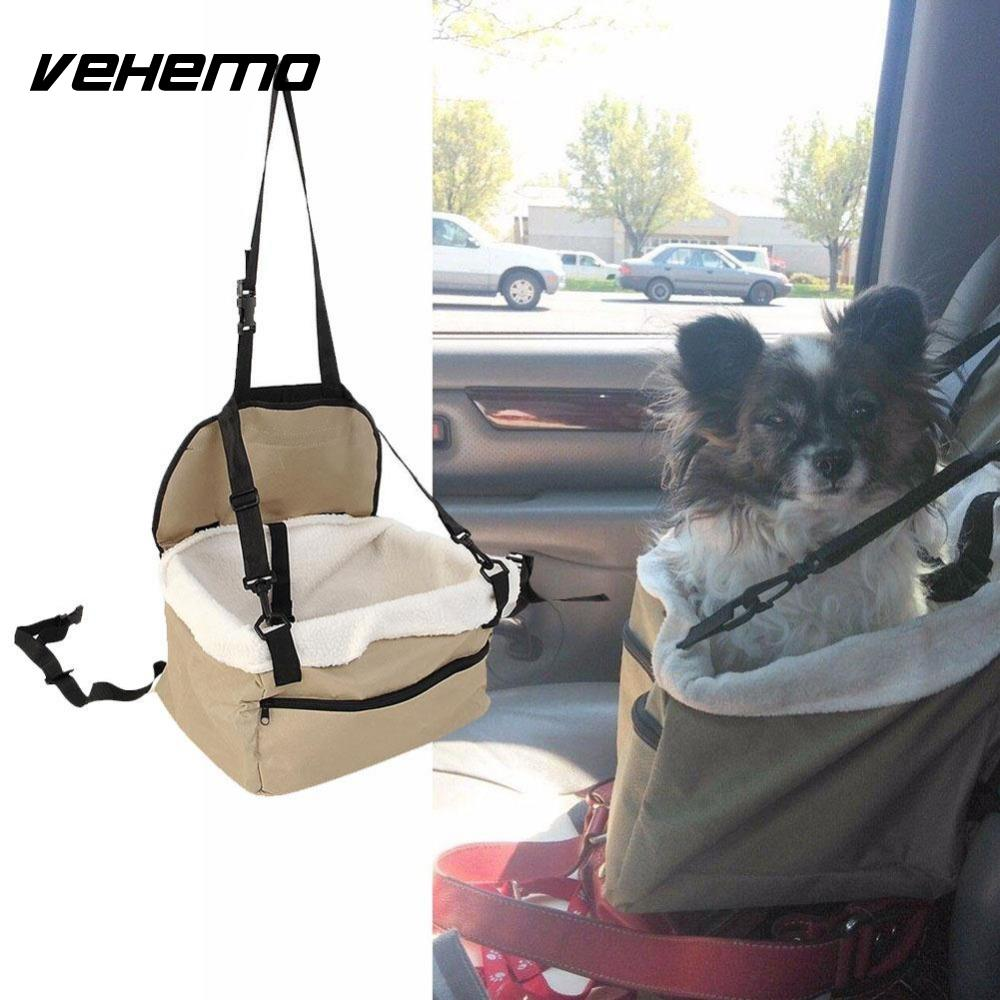 Vehemo Quality Pet Dog Puppy Cat Car Seat Booster Seat Carrier Car Auto Vehicle Leash