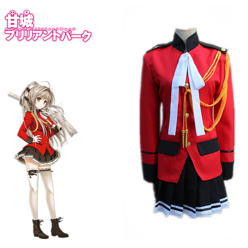 Popular Amagi Brilliant Park Costume Sento Isuzu Cosplay Janpanese Anime Fancy Uniforms Full Set For Halloween Carnival
